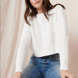 Garage Cable Knit White Sweater S